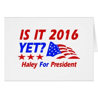 Nikki Haley para los diseños del presidente Felicitacion