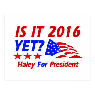 Nikki Haley para los diseños del presidente Postal