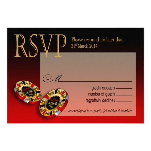 Nikki Las Vegas Deluxe RSVP response Invite