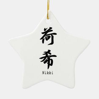Nikki translated into Japanese kanji symbols. Ceramic Ornament