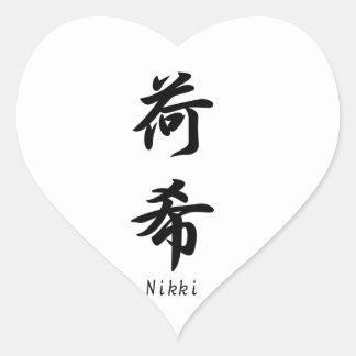 Nikki translated into Japanese kanji symbols. Sticker