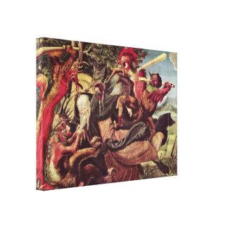Niklaus Manuel - Demons tormenting StAnthony Canvas Print