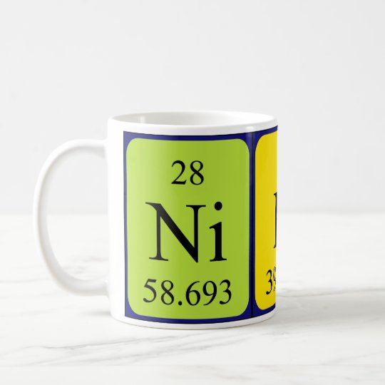 Niko periodic table name mug