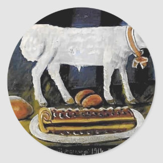 Niko Pirosmani- A paschal lamb Round Sticker