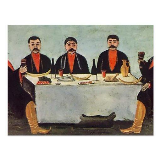 Niko Pirosmani- el banquete de cinco príncipes Tarjetas Postales