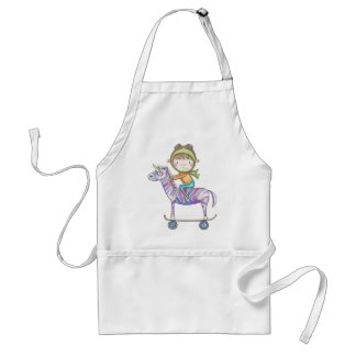 Niko the small explorer and his free adult apron