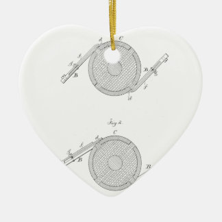 Nikola Telsa Communicator Patent Ceramic Ornament
