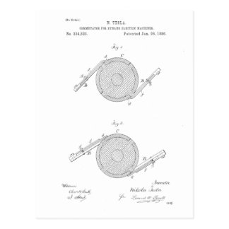 Nikola Telsa Communicator Patent Postcard