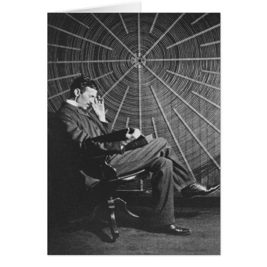 Nikola Tesla, 1896 Card
