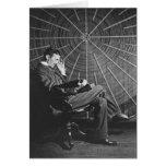 Nikola Tesla, 1896 Tarjeta De Felicitación
