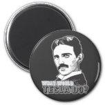 Nikola Tesla 2 Inch Round Magnet