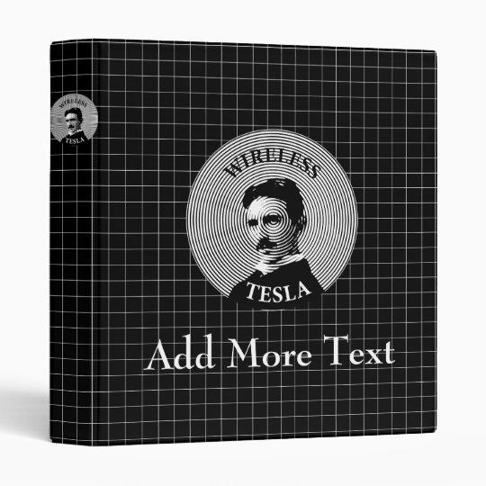 Nikola Tesla 3 Ring Binder