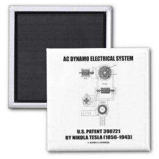 Nikola Tesla AC Dynamo Electrical System Patent 2 Inch Square Magnet