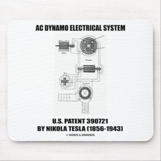Nikola Tesla AC Dynamo Electrical System Patent Mousepads