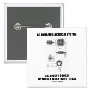 Nikola Tesla AC Dynamo Electrical System Patent Pinback Button