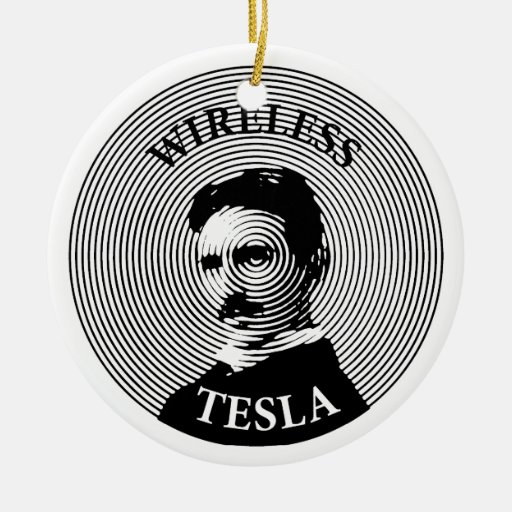 Nikola Tesla Adorno Navideño Redondo De Cerámica