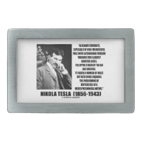 Nikola Tesla Alternate Currents Mechanical Nature Belt Buckles