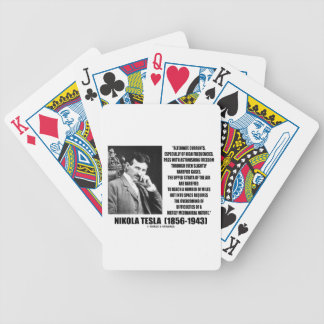 Nikola Tesla Alternate Currents Mechanical Nature Bicycle Playing Cards