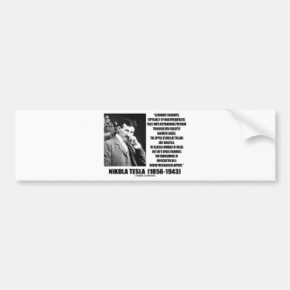Nikola Tesla Alternate Currents Mechanical Nature Bumper Sticker