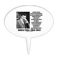 Nikola Tesla Alternate Currents Mechanical Nature Cake Topper