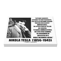 Nikola Tesla Alternate Currents Mechanical Nature Canvas Print