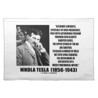 Nikola Tesla Alternate Currents Mechanical Nature Cloth Placemat