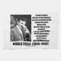 Nikola Tesla Alternate Currents Mechanical Nature Hand Towels