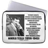 Nikola Tesla Alternate Currents Mechanical Nature Laptop Sleeves