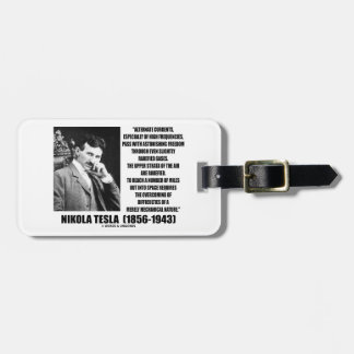 Nikola Tesla Alternate Currents Mechanical Nature Luggage Tag