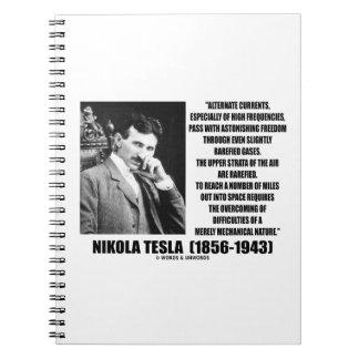 Nikola Tesla Alternate Currents Mechanical Nature Notebook