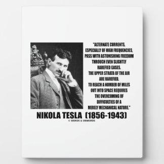 Nikola Tesla Alternate Currents Mechanical Nature Plaque