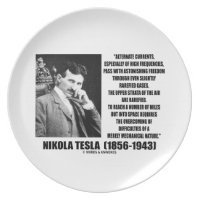 Nikola Tesla Alternate Currents Mechanical Nature Plate