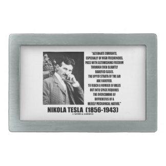 Nikola Tesla Alternate Currents Mechanical Nature Rectangular Belt Buckle