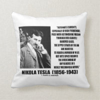 Nikola Tesla Alternate Currents Mechanical Nature Throw Pillow