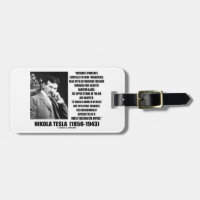 Nikola Tesla Alternate Currents Mechanical Nature Travel Bag Tag