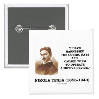 Nikola Tesla aprovechó el dispositivo del motivo Pin Cuadrada 5 Cm