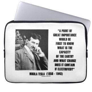 Nikola Tesla Capacity Of Earth Charge Electrified Computer Sleeve