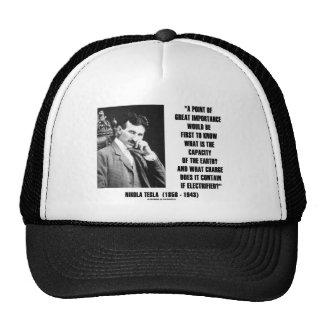 Nikola Tesla Capacity Of Earth Charge Electrified Mesh Hats