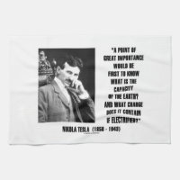Nikola Tesla Capacity Of Earth Charge Electrified Kitchen Towel