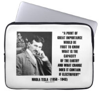 Nikola Tesla Capacity Of Earth Charge Electrified Laptop Sleeve