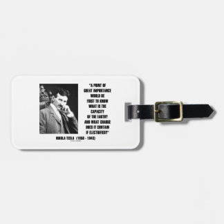 Nikola Tesla Capacity Of Earth Charge Electrified Luggage Tag