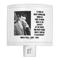 Nikola Tesla Capacity Of Earth Charge Electrified Nite Light