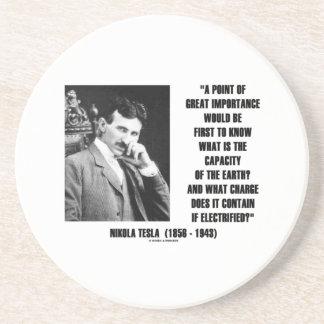 Nikola Tesla Capacity Of Earth Charge Electrified Sandstone Coaster