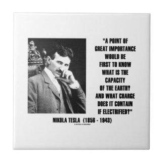 Nikola Tesla Capacity Of Earth Charge Electrified Tile