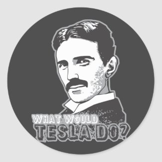 Nikola Tesla Classic Round Sticker