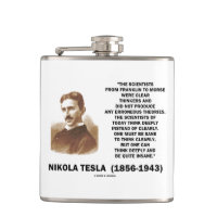Nikola Tesla Clear Thinkers Sane To Think Clearly Flasks