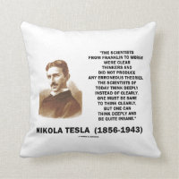 Nikola Tesla Clear Thinkers Sane To Think Clearly Pillow