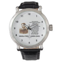 Nikola Tesla Clear Thinkers Sane To Think Clearly Wristwatch
