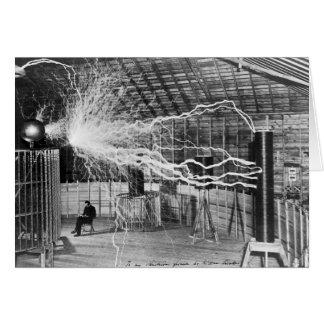 Nikola Tesla, Colorado Springs, 1899 Card