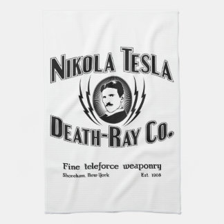 Nikola Tesla Death-Ray Co. Hand Towel